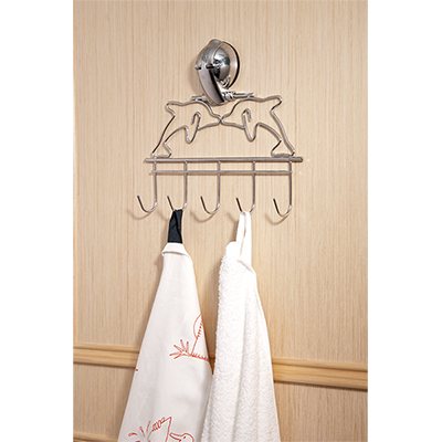 Dolphin Hanger- 5 Hooks w/ Suction Pad - C502003
