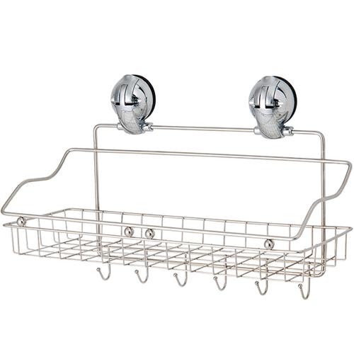Stuff Basket w/ Hooks w/ Suction Pad - C505009