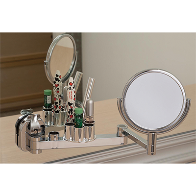 Angle Adjustable Mirror w/ Lip Stick Holder w/ Suction Pad - C513001
