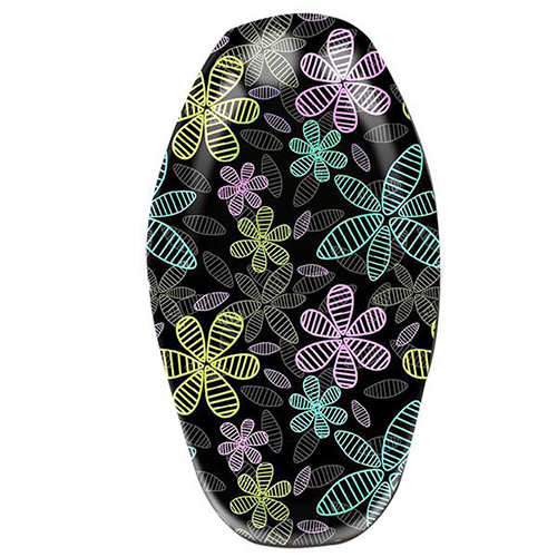 Motorcycle Seat Cover  Flowers line - YY0001