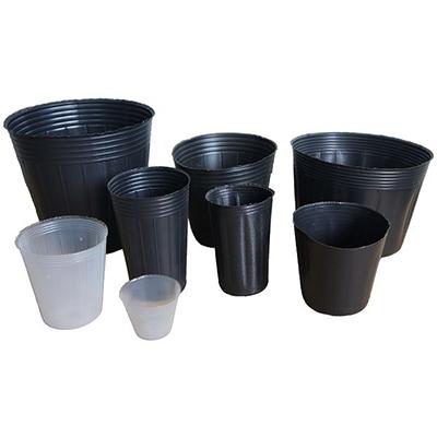 Soft Thin Nursery Pot (Black / Transparent White)