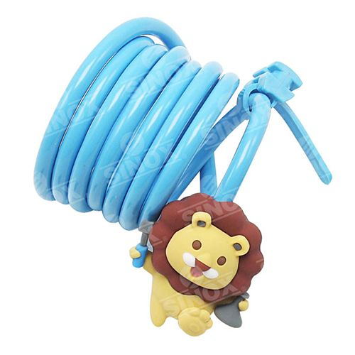 Animal Characters Design 2 Wheel Security key Cable Lock