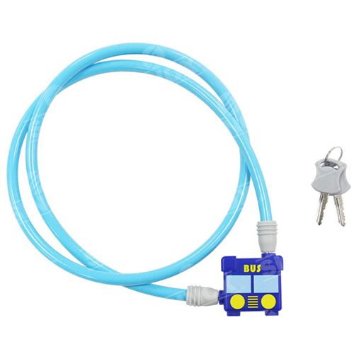 2 Wheel Security key Cable Lock for kids