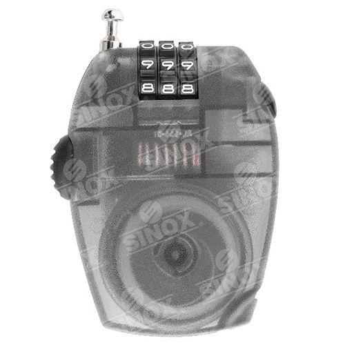 TL954 Versatile 4 digit Retractable adjustable cable lock