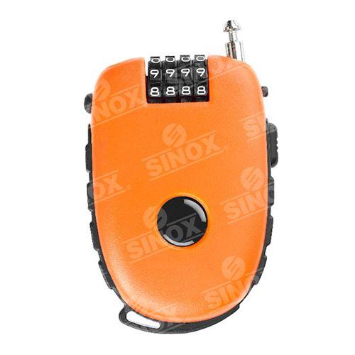 TL981 4 digit Retractable adjustable cable lock
