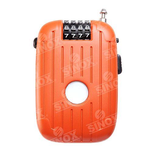 TL997 4 digit Retractable adjustable Cable Lock