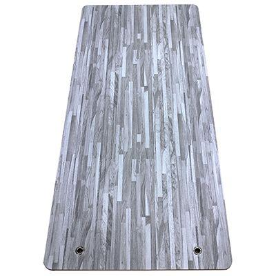 EVA foam wood printed yoga mat with eyelet hole