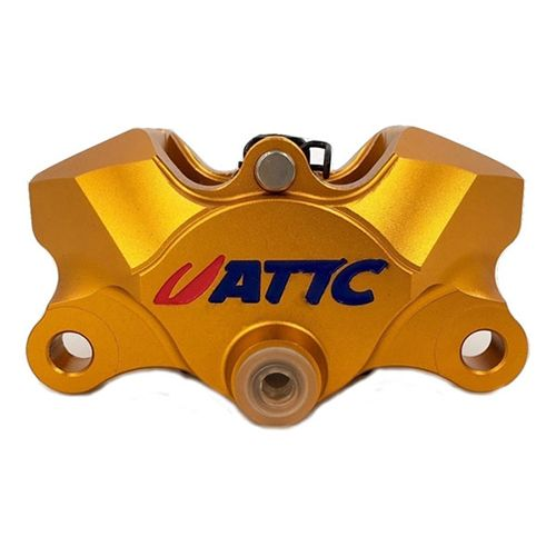 Attc CNC 4 Pistons Brake Caliper1_Burned