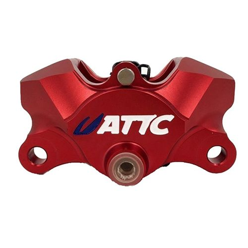 Attc CNC 4 Pistons Brake Caliper4_Burned
