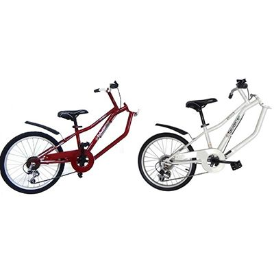 FOLLOWER - 20 inch 6 spd folding tag along trailer bike