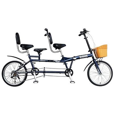 PIONEER 3 seaters - 20 inch 6 spd folding tandem bike