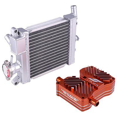 YAMAHA S-MAX-155 / FORCE-155 CNC cylinder head cooling cap + aluminum radiator
