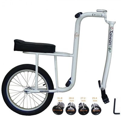 BABY TAGGER - 16 inch pearl white kids bike stroller
