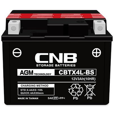 Motorcycle Battery CBTX4L-BS