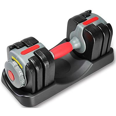 Cast Iron 15kgs Adjustable Dumbbell AD-15G