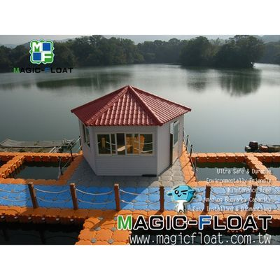 MF-Floating Buildings on Water / Floating Platform for Wooden House