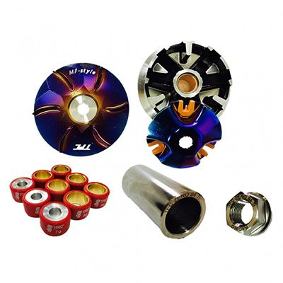 High power forging pulley set+ Titanium pulley tube+ Titanium nut