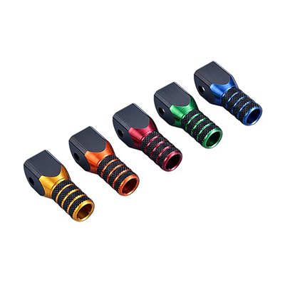Shift pedal tip-double colored tip
