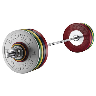 Competition barbell set with collars