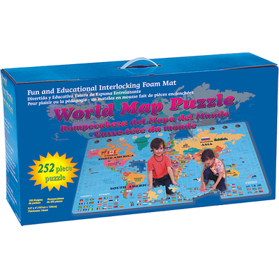 World Map EVA Foam Puzlle 252 Small pcs - PP 19701