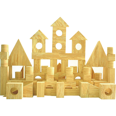 EVA Safety Foam Building Blocks (Wood-effect) - FB 10572