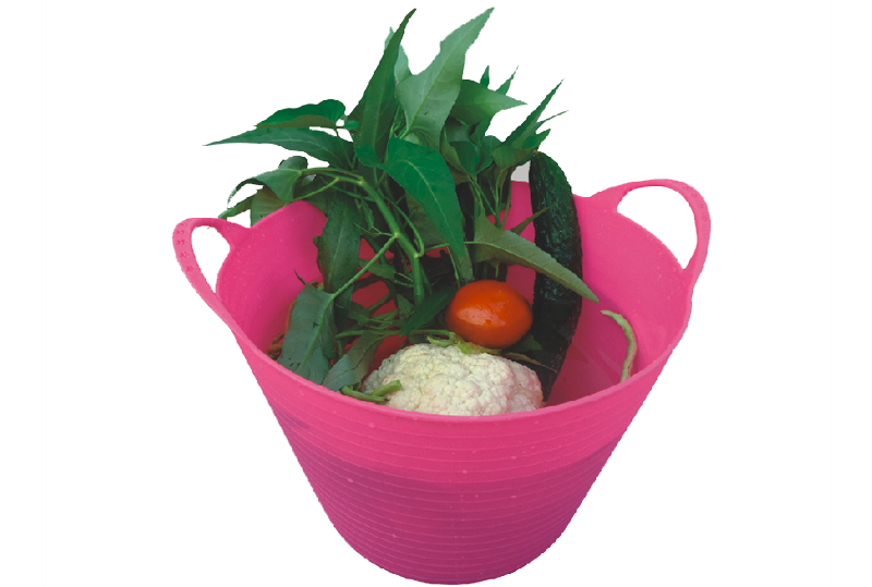 Flexible Tubs  SHOPPING AND WASHING VEGETABLES BARRELS.