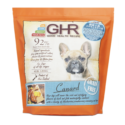 GHR - Canard grain free dried dog food 1.81kg