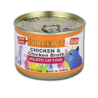 PURRFACT CHICKEN & CHICKEN BROTH FORMULA 170g